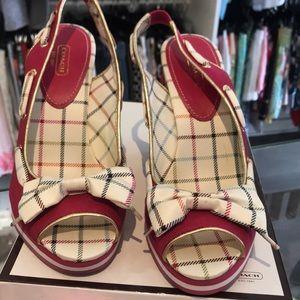 Coach Shoes - Coach Magenta Wedges size 9